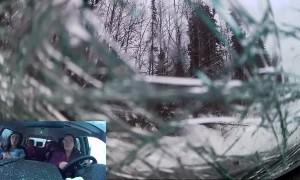 Family Van Rolls off Road in Alaska