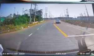 Near Miss by Inches With Motorcycle