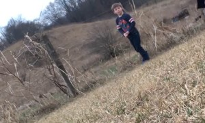 Kid Plays a Joke on Brother Touching Electric Fence