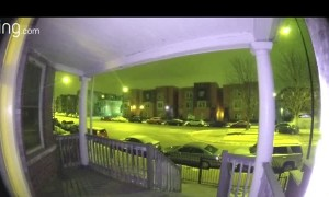 Ring Camera Catches Car Running into a Tree