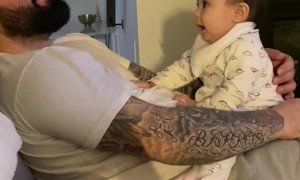 Daughter Waits for Dad to Look and Laugh