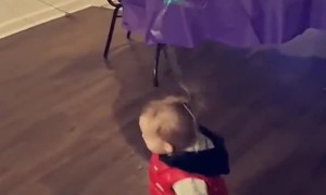 Mom Hack Tying Balloon to Toddlers Hair