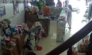Snake Makes a Visit during Store Transaction