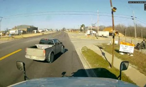 Truck's Last Minute Turn Ends in an Accident