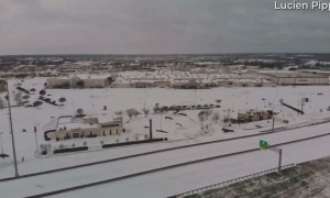 Drone Footage of Snow in Beaumont Texas
