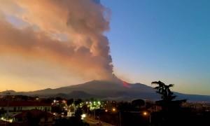 Mount Etna Erupts Streams of Lava