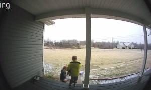Ice Storm Surprises a Couple of Kids