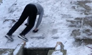 Soccer on Ice Leads to Faceplant