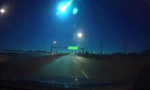 Dashcam Capture Meteor in Canadian Sky