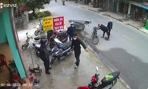Man Nearly Taken Out by Tearaway Trailer