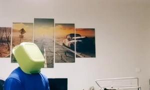 Playful Lab Baffled by Bucket