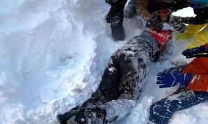 Mountain Skiers Rescue Man from Freezing Cold Pond