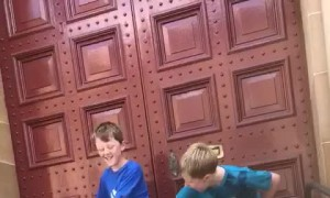 Cute Kiddo Attempts To Floss like His Brother