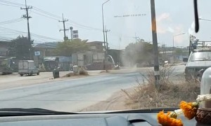 Close Call with a Dust Devil