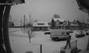 Mailman Makes Snow Angel