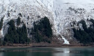 Man Made Avalanche Roars Down Mountainside
