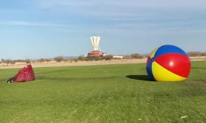 Skydiver Slams Into Giant Beach Ball
