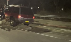 Driving By Crash on Concrete Divider