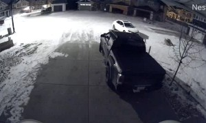 Teens Caught Vandalizing Truck in Driveway
