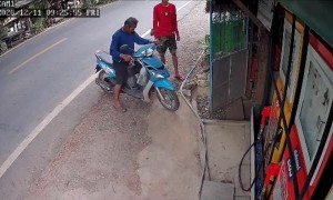 Motorcycle Startup Leads to Mishap