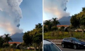 Mount Etna eruption footage is a sight to behold