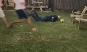 Attempted Soccer Goals Lands Flat