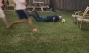 Attempted Soccer Goals Lands Flat