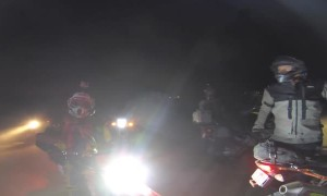 Drunk Guy That Crashed Car into Ditch Tries to Fight Motorcyclist