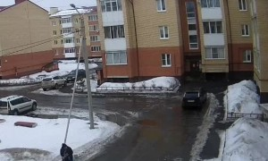 Mother Miraculously Saves Child From Falling Snow