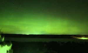 Green Glow Time-Lapse of the Northern Lights