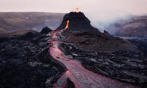 Incredible Rare Drone Shots of the Erupting Geldingadalsgos Volcano