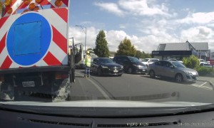 Truck Driver Chases Away Angry Attacker