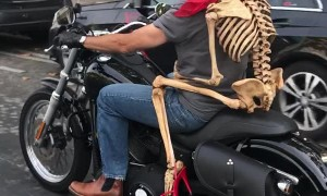 Motorcycle Passenger is Bad to the Bone