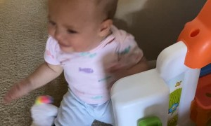 Dramatic Child Gets Teary Around Toy