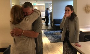 Tearful Reunion for Transplant Donor and Recipient