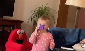 Kiddo Gets Ear Buds Backward