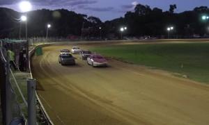 Racecar Kangaroo Hops Down the Track