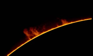 Solar Telescope Captures Beautiful Example of Prominence