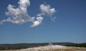 Old Faithful Erupting at Yellowstone National Park in 2019