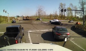 Brake Failure Sends Semi Truck Plowing Through Intersection