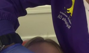 Girl Struggles to Relax at the Dentist