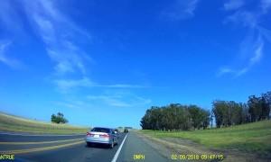 Woman Hurls Bottles on the Highway