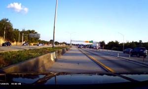 Car Cutting into Lane Creates Close Call On Highway