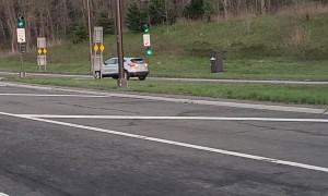 Impatient Drivers Use Entry Ramp to Exit Highway