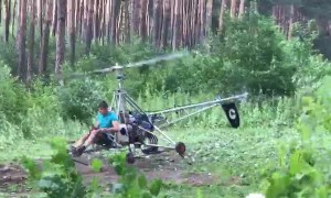 Homemade Helicopter Has Trouble Taking Off