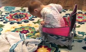 New Chair Gives Girl a Lesson in Coordination