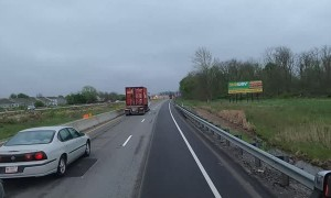 Semi Accident Blocks Off Highway Exit