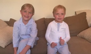Boy Has Hilarious Improv during Sweet Message for Grandparents