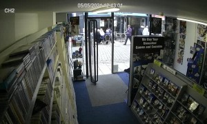 Man Walks Straight Into Shop Window