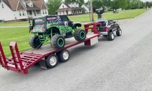 Power Wheels Towing Custom Trailer
